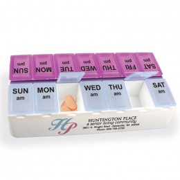 Daily Reminder 7-Day Medicine Tray Promotional Custom Imprinted With Logo