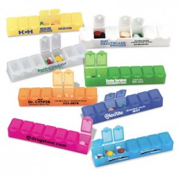All Week Pill Box - 6 Promotional Custom Imprinted With Logo