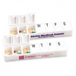 Carry Along All-Week Pill Box Promotional Custom Imprinted With Logo