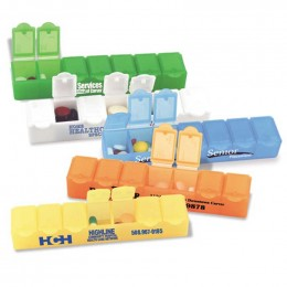 Big 7 All Week Pill Box - 7 Promotional Custom Imprinted With Logo