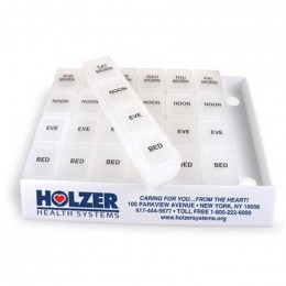 Jumbo 24/7 Medicine Tray Organizer Promotional Custom Imprinted With Logo