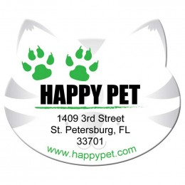 Cat Shape Magnet - Medium - 20 mil Promotional Custom Imprinted With Logo