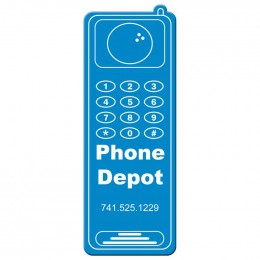 Cell Phone Shape Magnet - Medium - 20 mil Promotional Custom Imprinted With Logo