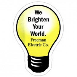 Light Bulb Shape Magnet - Medium - 20 mil Promotional Custom Imprinted With Logo