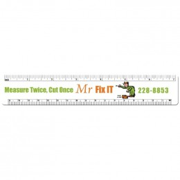 Ruler Shape Magnet - Medium - 30 mil Promotional Custom Imprinted With Logo