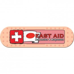 Bandage Shape Magnet - Small  - 30 mil Promotional Custom Imprinted With Logo