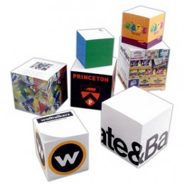 "3-7/8"" Non-Adhesive Note Cube - 775 Sheets Custom Imprinted With Logo"