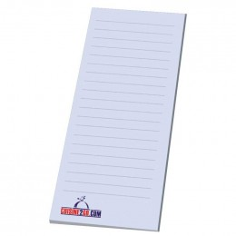 "3"" x 9"" Non-Adhesive Scratch Pad - 25 Sheet Pad Promotional Custom Imprinted"