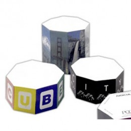 "4"" Octagon Shape Sticky Note Cube - 800 Sheets Promotional Custom Imprinted"