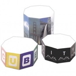"4"" Octagon Shaped Sticky Note Cube - 400 Sheets Promotional Custom Imprinted"