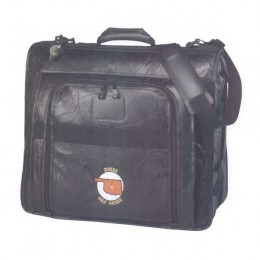 Leather Valet Garment Bag Promotional Custom Imprinted With Logo