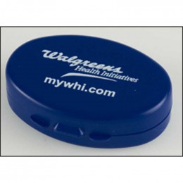 Recycled Oval Pill Case Promotional Custom Imprinted With Logo
