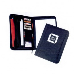 Polyester Zippered Padfolio Promotional Custom Imprinted With Logo