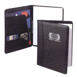 Simulated Leather Padfolio Promotional Custom Imprinted With Logo