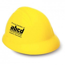 Hard Hat Stress Reliever Promotional Custom Imprinted With Logo
