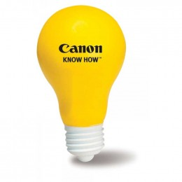 Light Bulb Stress Reliever Promotional Custom Imprinted With Logo