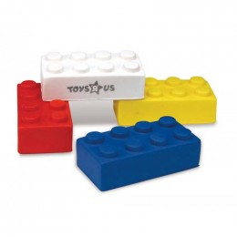 Building Block Stress Ball Promotional Custom Imprinted With Logo