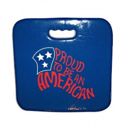 "Premier Stadium Seat Cushion 14"" Square Shaped Promotional Custom Imprinted Logo"