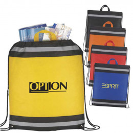 The Eagle Drawstring Backpack Promotional Custom Imprinted With Logo