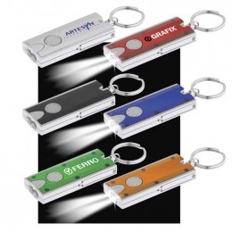Double LED Rectangular Key-Light Promotional Custom Imprinted With Logo