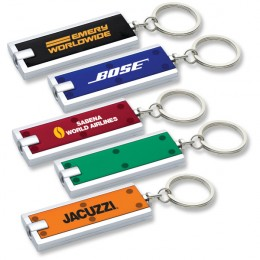 Rectangular Key-Light Promotional Custom Imprinted With Logo