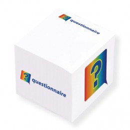 "2-3/8"" Sticky Note Cube - 4 Color FREE Promotional Custom Imprinted With Logo"