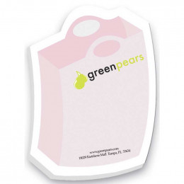"4""x3"" Shopping Bag Sticky Notes-50 Sheets-4 Color Promotional Custom Imprinted With Logo"