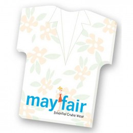 Adhesive Die Cut Notepad - Shirt 4 x 6 25 Sheet Pad Promotional Custom Imprinted With Logo