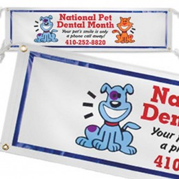 3ft. x 10ft. Vinyl Banner Promotional Custom Imprinted With Logo