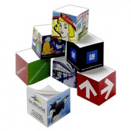 Sticky Note Cube Minis Promotional Custom Imprinted With Logo