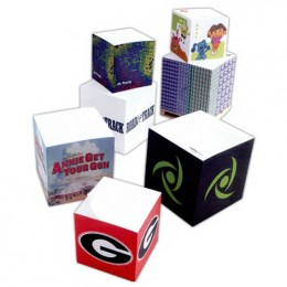 "2-3/4""Sticky Note Cube - 550 Sheets Promotional Custom Imprinted With Logo"