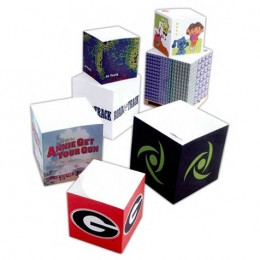 3-7/8'' Sticky Note Cube - 775 Sheets Promotional Custom Imprinted With Logo