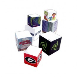 "3-3/8"" Sticky Note Cube - 675 Sheets Promotional Custom Imprinted With Logo"