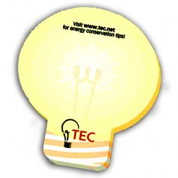 "3""x3"" Lightbulb Sticky Notes-25 Sheet-4 Color FREE Promotional Custom Imprinted"