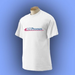 Gildan Ultra Cotton T-Shirt - White Promotional Custom Imprinted With Logo