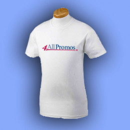 Gildan 100% Cotton T-Shirt - White Promotional Custom Imprinted With Logo