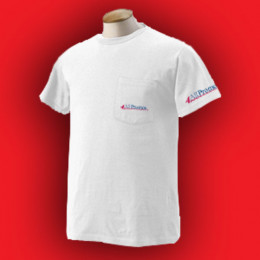 Fruit of the Loom 50/50 Pocket T-Shirt - White Promotional Custom Imprinted