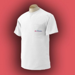 Gildan Ultra Cotton Pocket T-Shirt - White Promotional Custom Imprinted With Logo