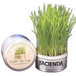 Turf n Tin Grass Promotional Custom Imprinted With Logo