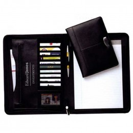 Leather Padfolio Promotional Custom Imprinted With Logo