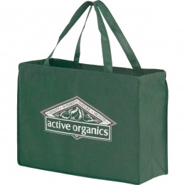 "Recycled Grocery Tote Bag - 16"" x 12"" Promotional Custom Imprinted With Logo"