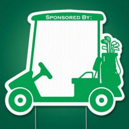Golf Cart Yard Sign Promotional Custom Imprinted With Logo