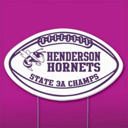 Football Yard Sign Promotional Custom Imprinted With Logo