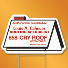 Rooftop Yard Sign Promotional Custom Imprinted With Logo