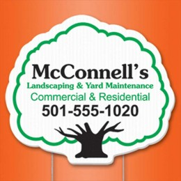 Tree Yard Sign Promotional Custom Imprinted With Logo