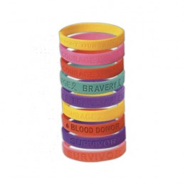 Awareness Bracelets - Embossed Promotional Custom Imprinted With Logo