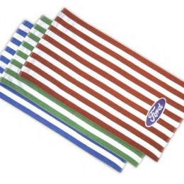 Custom Embroidered Striped Cabana Towels - Promotional Items for Cruise Lines