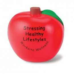 Apple Stress Reliever Promotional Custom Imprinted With Logo