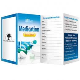 Medication Record Keeper Promotional Custom Imprinted With Logo
