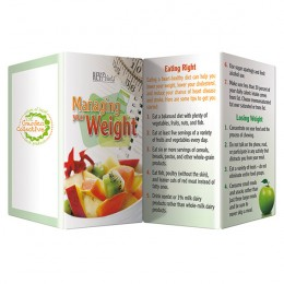 Managing Your Weight Promotional Custom Imprinted With Logo